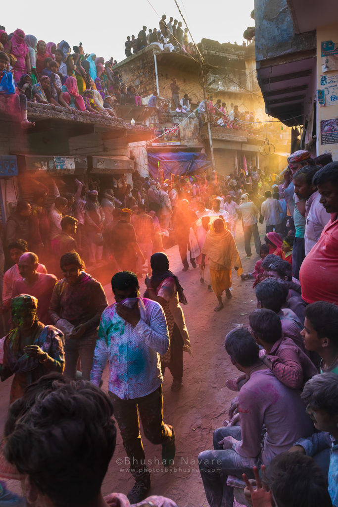 Intense Celebrations on the roads to the temple